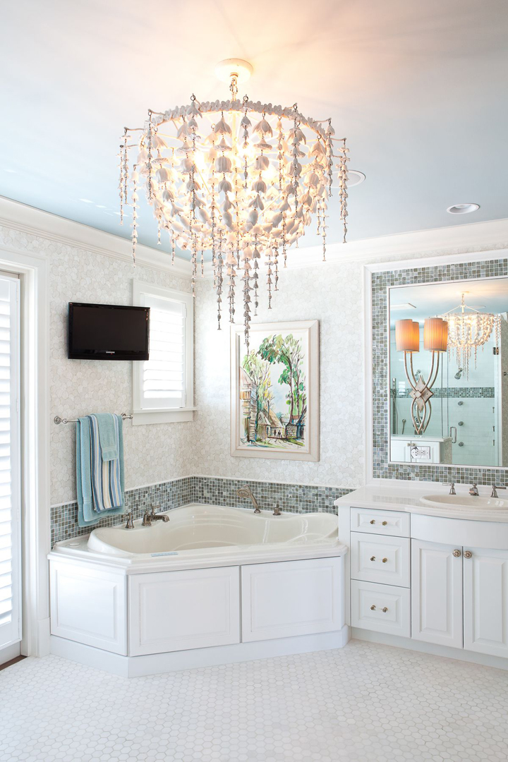 coastal bath chandelier