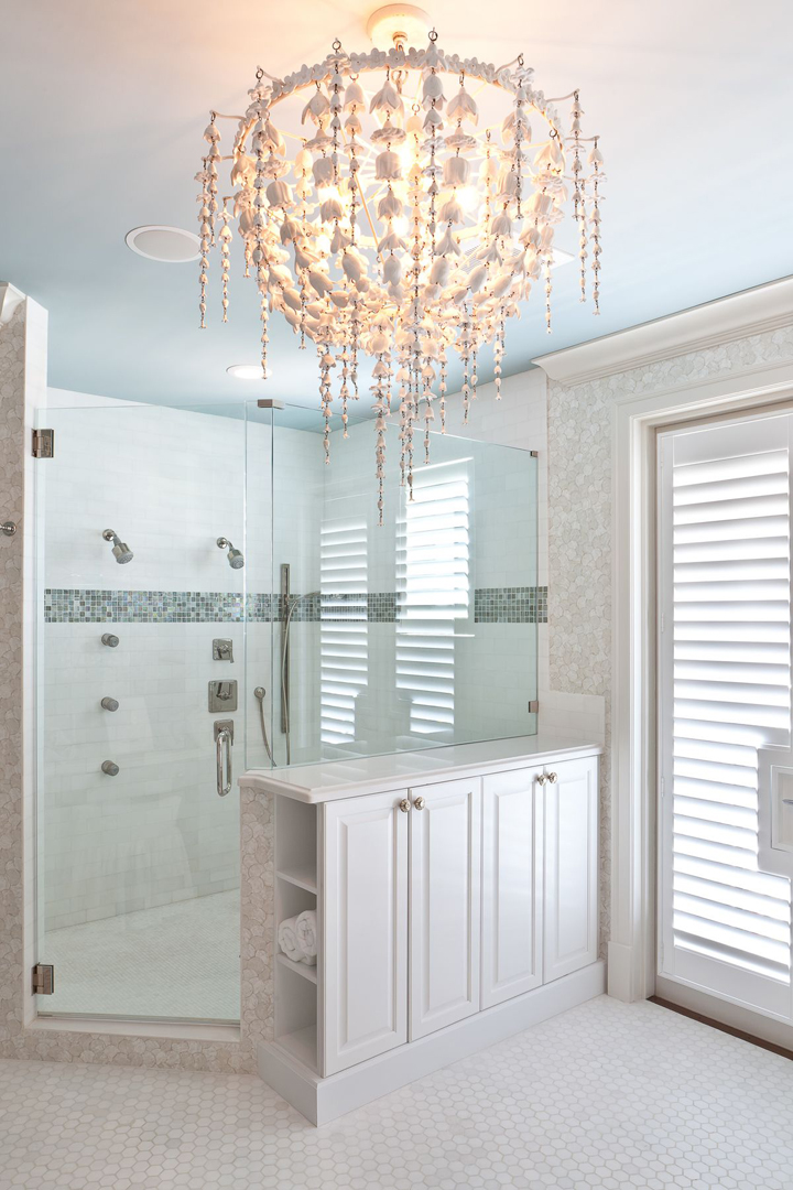 coastal shower bathroom