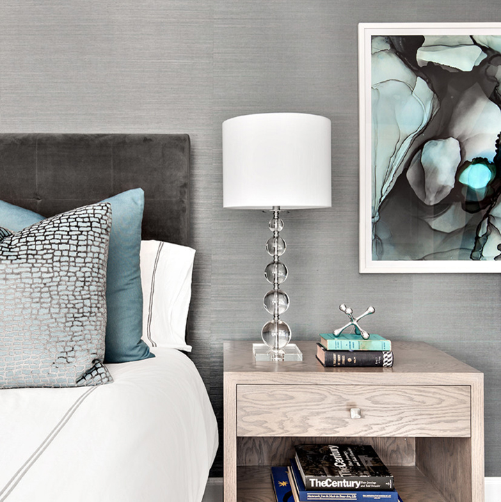 gray turquoise bedroom