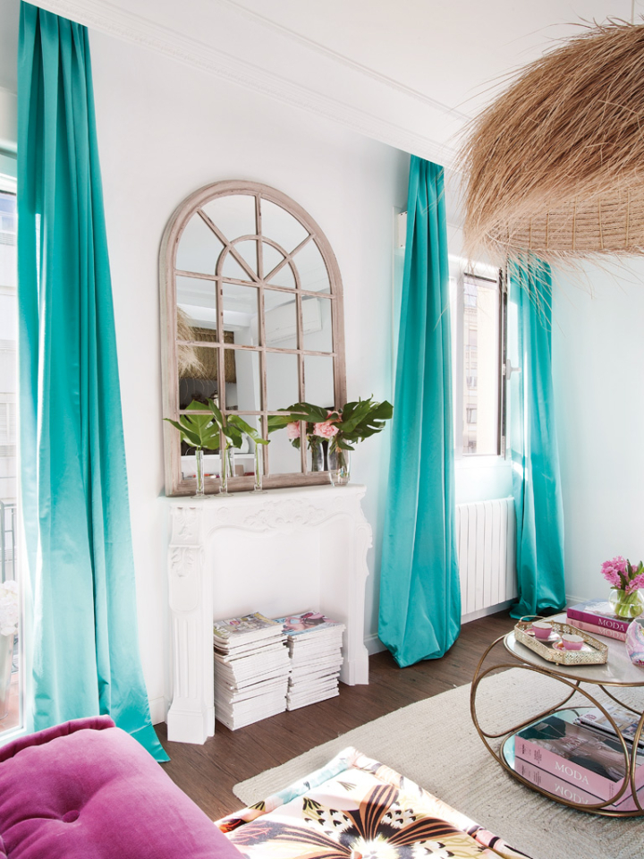 Sonia reixach interior design house of turquoise for Salon turquoise