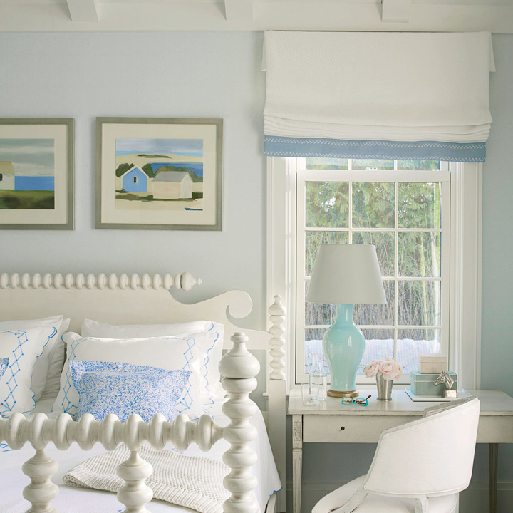serene blue bedroom