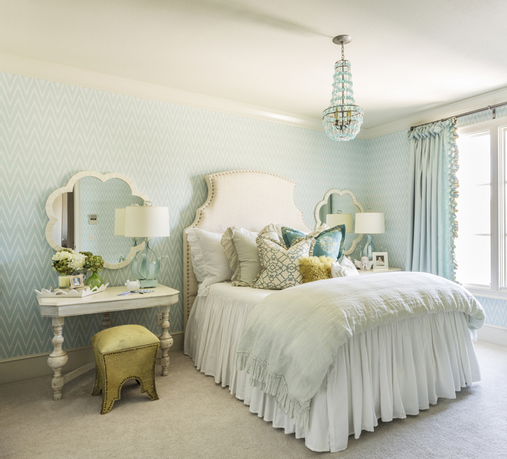Harper howey interiors house of turquoise for Sea green bedroom designs