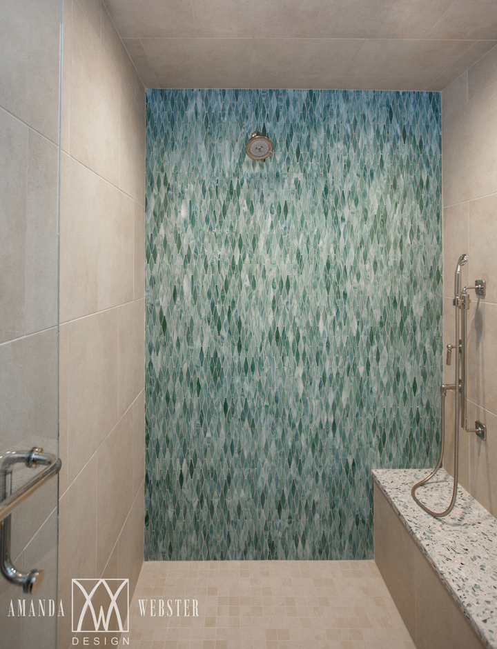 turquoise tile shower