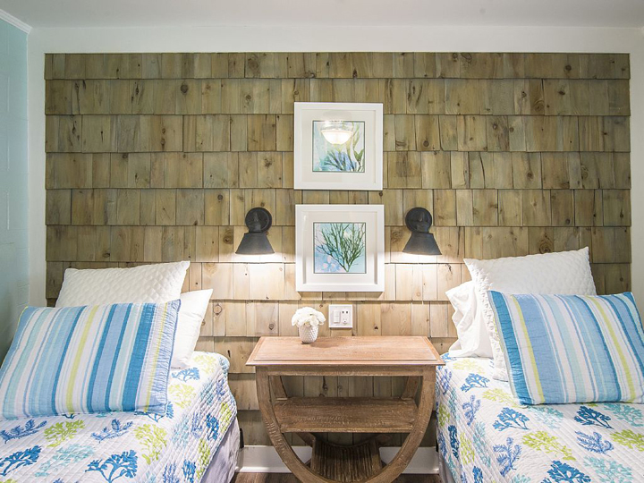 shingle feature wall