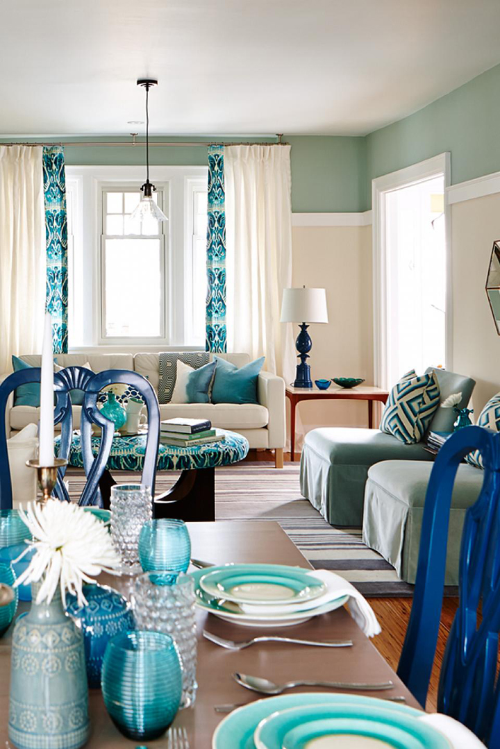 turquoise-dining-table