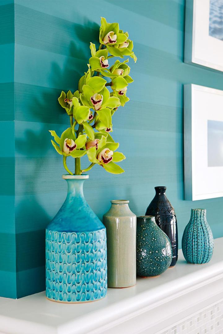 turquoise-mantel