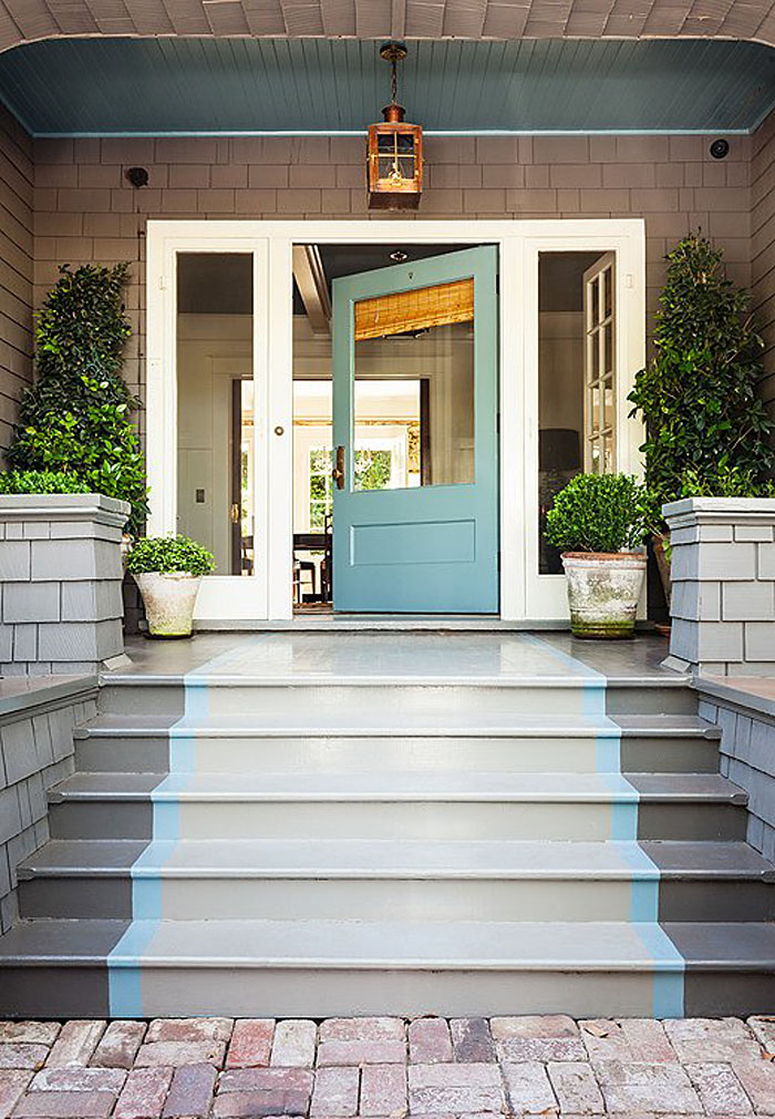 blue front doorsTurquoise and Blue Front Doors  with Paint Colors