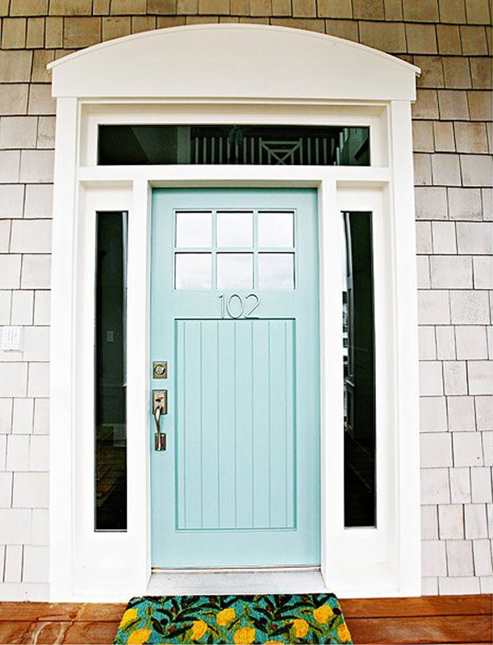 How To Paint A Front Door turquoise and blue front doors – with paint colors!