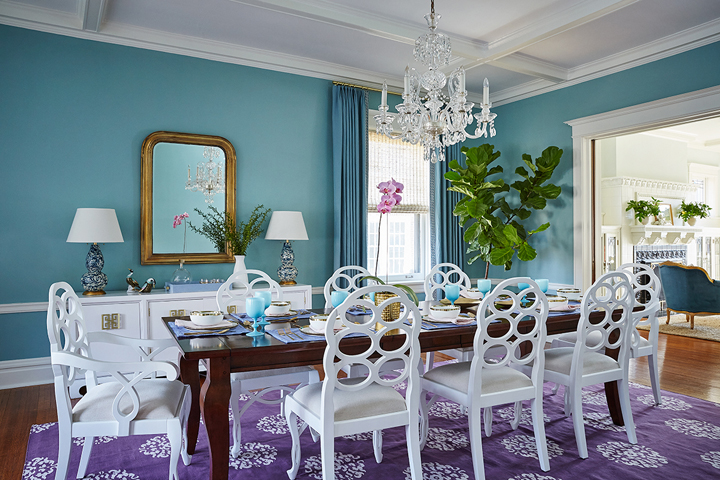 turquoise-dining-room
