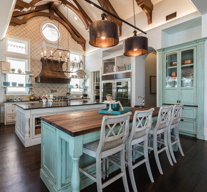 Kitchen Island Accent Color: House Of Turquoise
