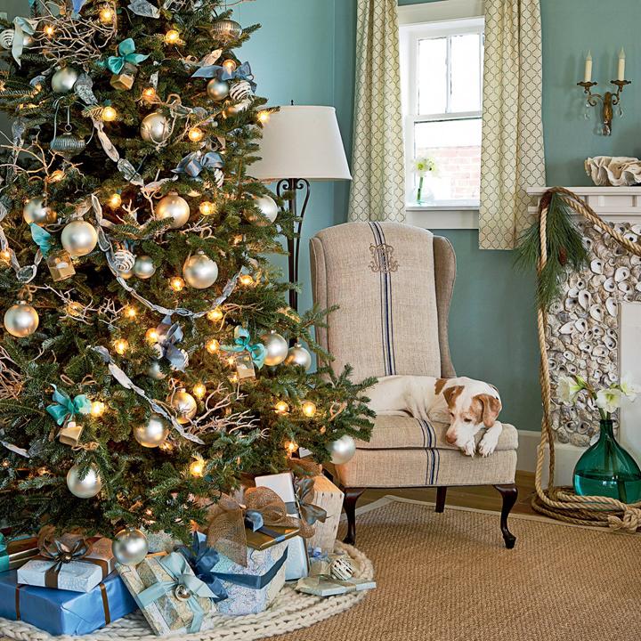 Coastal Christmas Trees House Of Turquoise