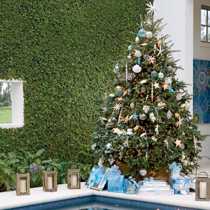 Superior Pool Place Christmas Trees Part - 4: House Of Turquoise