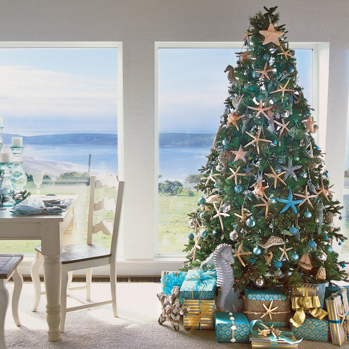 coastal christmas trees house of turquoise