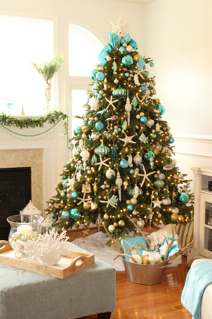 Turquoise christmas decor house of