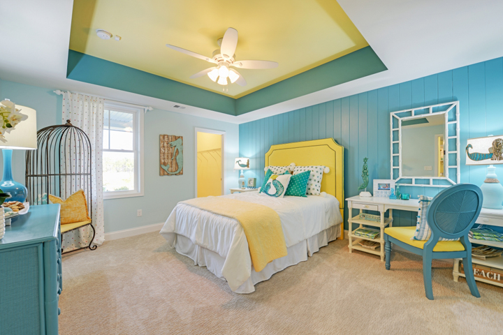 turquoise-yellow-bedroom