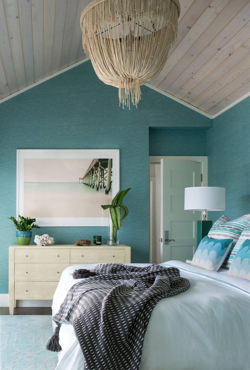 Studio80 interior design house of turquoise Blue beach bedroom ideas