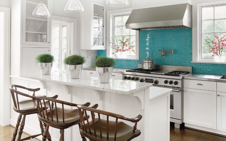 Turquoise Backsplash Ideas House Of Turquoise