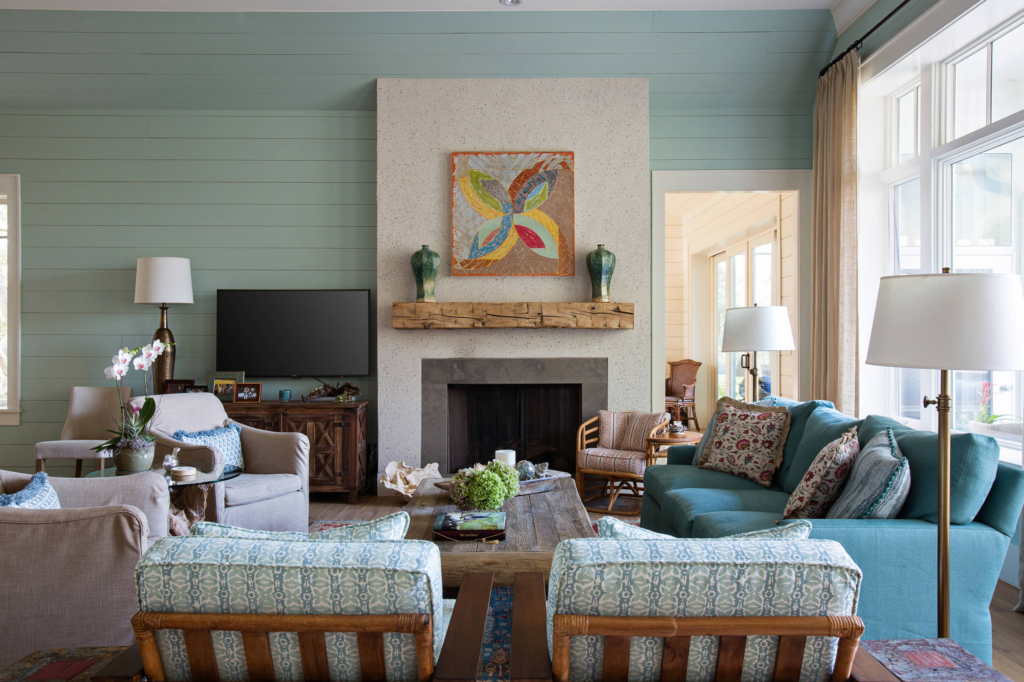 located on johns island outside of charleston south carolina this beautiful home was designed by jodi crosby of