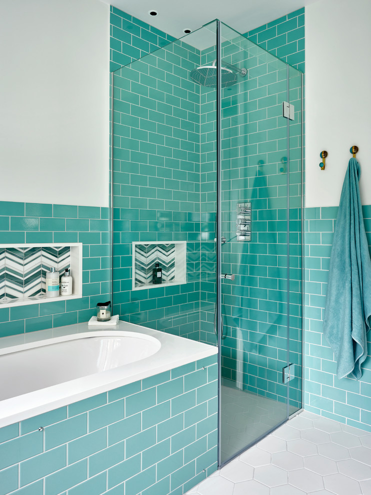 turquoise tiles bathroom wilding amp wolfe house of turquoise 14838