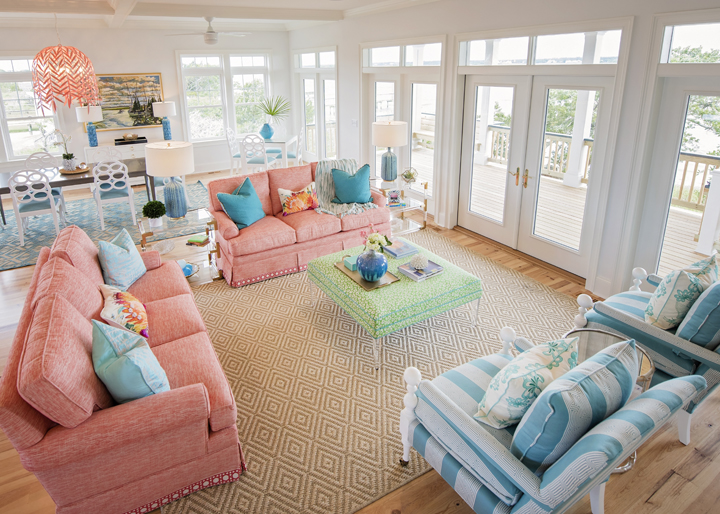 Wilmington, North Carolina Based Interior Designer Hooper Patterson Is The  Talent Behind This Super Fun Vacation Home On Topsail Island Built By  Maebilt ...