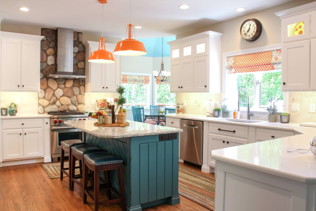 Indiana Based Martin Brothers Contracting Worked With Custom Cabinet Maker  The Design Studio And Interior Designer SP Interiors On This Colorful ...