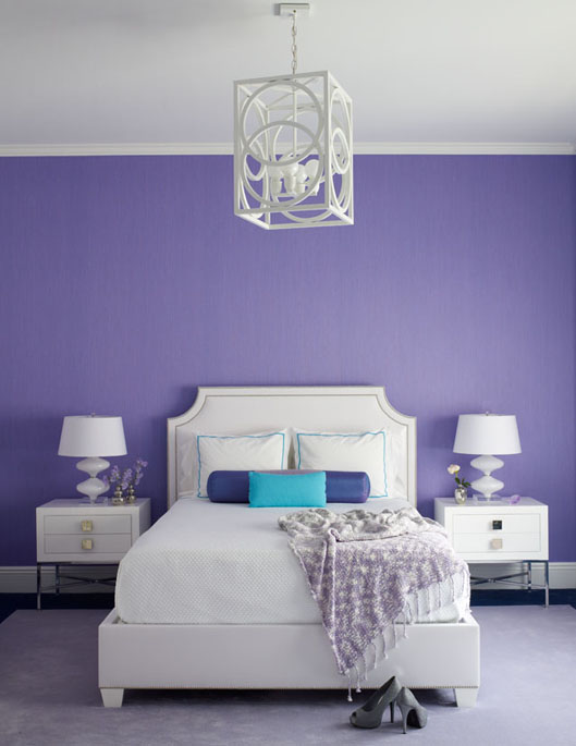 extraordinary bedroom ideas purple walls | 2018 Pantone Color of the Year – Ultra Violet | House of ...