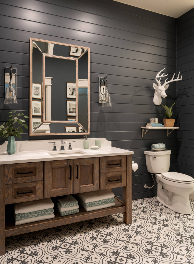 Black Rustic Bathroom Vanity: House Of Turquoise