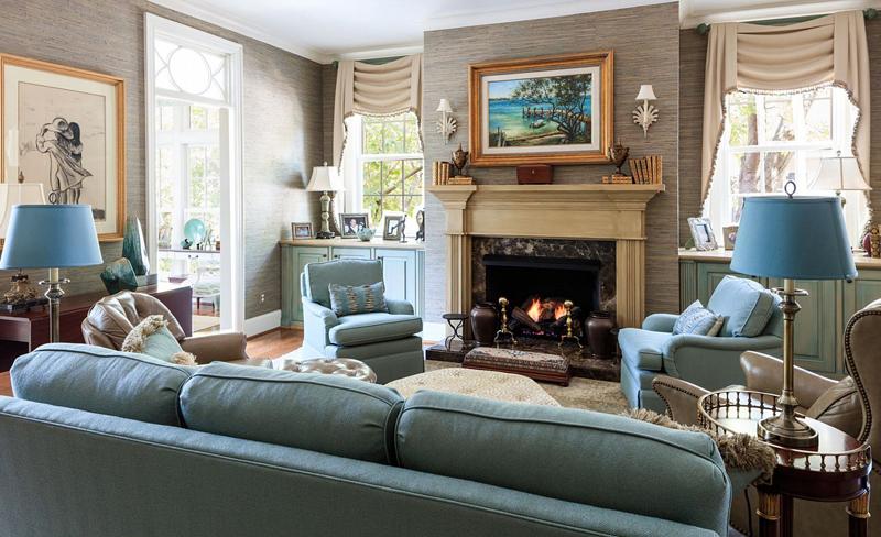 cozy turquoise den